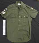 Uniform shirt RNZCT Air Dispatch; Unknown; c.1979-1996; 2005_227_7