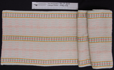 Roller towel; Unknown; c.1970's; 1992_636