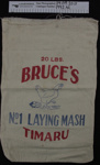 Calico 'Laying Mash' produce bag; Bruce's Laying Mash; mid 20th Century; 1992_42