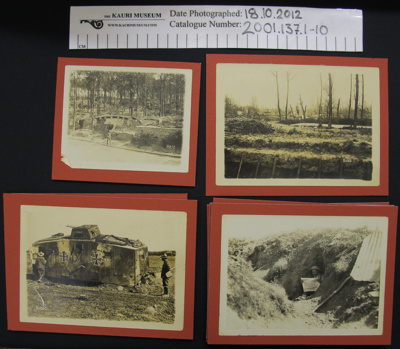 Photograph collection WW1; 1914-1918; 2001_137_1-10