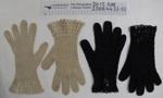 Crochet gloves; Unknown; mid 20th Century; 2006_44_22-23