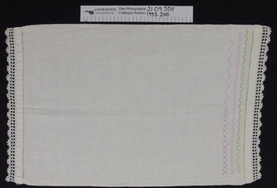 Hand towel; Unknown; 20th Century; 1993_200