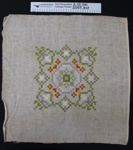 Cross stitch embroidery; Unknown; Unknown; 2007_347_1