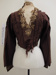 Brown blouse c.1900's; Unknown; c.1900; 1982_819
