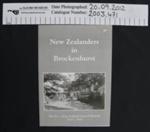 New Zealanders in Brockenhurst'; The Vicar and PCC of Brockenhurst; 1996; 2003_471