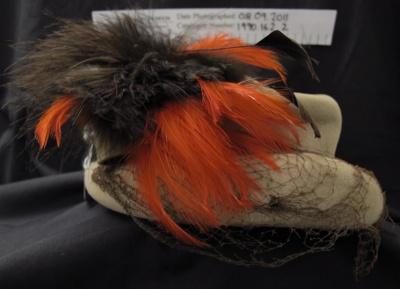 Ladies hat mid 20th Century; Unknown; mid 20th Century; 1990_162_2