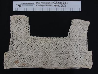 Crochet yoke; Unknown; Unknown; 1991_652