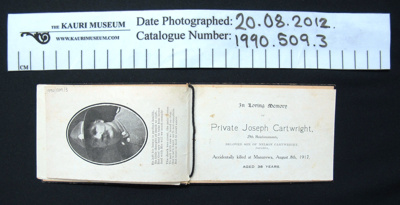Memoriam card; 1917; 1990_509_3