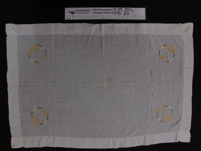 Tray cloth; Unknown; early 20th Century; 1975_20