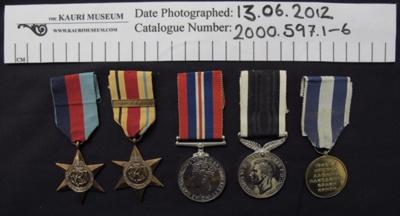 Medals WW2; c.1945-1980; 2000_597_1-6