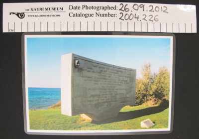 Photograph memorial Gallipoli; c.2000's; 2004_226