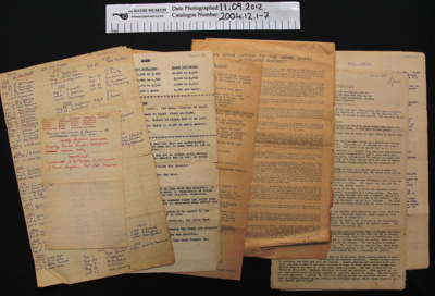 Home Guard documents; 1915-1939; 2004_12_1-7