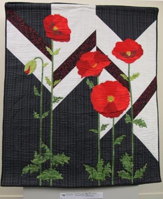 Spirit of ANZAC' poppy quilt; Lyn King; 2010; 2010_65_1