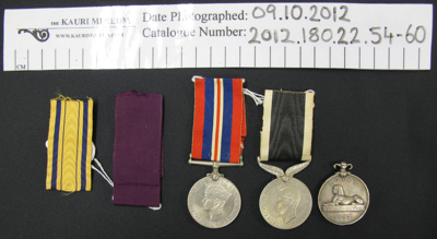 Military Medals, 1882-1945; 1882-1945; 2012_180_22_54-60
