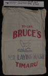 Calico 'Laying Mash' produce bag; Bruce's Laying Mash; mid 20th Century; 1999_254_9