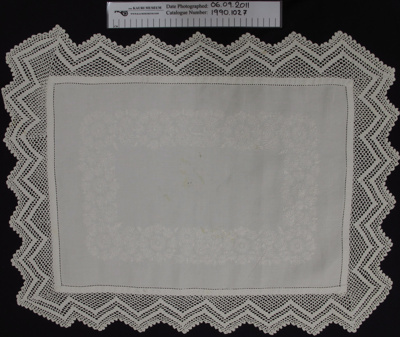 Tray cloth; Unknown; Unknown; 1990_1027