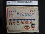 Needlework sampler; J. Dommise; Unknown; 1989_697_5