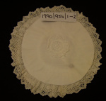 Baby bonnet; Unknown; Unknown; 1990_954_1-2