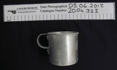 Aluminium cup; Swan Brand; c.1939-1945; 2004_323