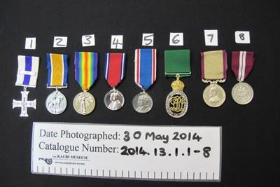 J G Coates Replica Medals WW1; 2014.13.1.1-8