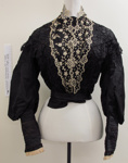 Black satin blouse c.1900's; Unknown; c.1900; 1989_622
