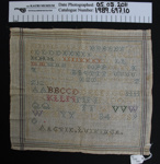 Needlework sampler; AL Vikinga; Unknown; 1989_697_10
