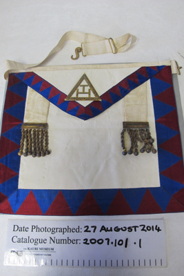 Masonic Royal Arch Chapter Apron; Unknown; early 20th Century; 2007.101.1