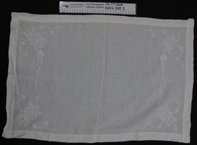 Tray cloth; Unknown; Unknown; 2004_388_2