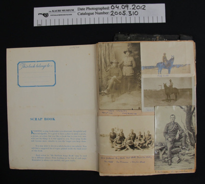 Photo scrapbook WW1; Popsy Sterling; c.1960's; 2005_310