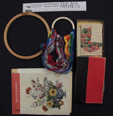 Embroidery Merchandise; Ancora Mezzopunto; mid 20th Century; 1989_698_1-5