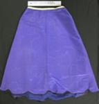 Purple moire skirt; Unknown; c.1890-1910; 1990_820_2