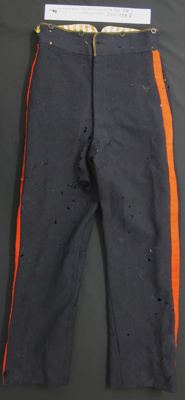 Military trousers; Unknown; c.1845-1900; 2010_338_2