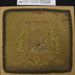 Commemorative cushion cover; Unknown; 1915; 2002_509