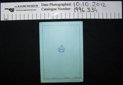 Memoriam card; 1945; 1996_334