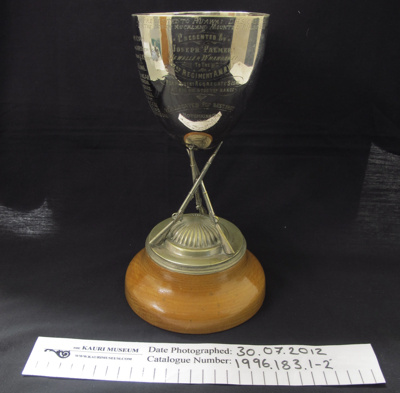 Best Shot' Trophy 1907 NAMR; Joseph Palmer; 1907; 1996_183_1-2