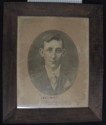 Photograph of Linton Ball WW1; c.1917; 2011_106_2