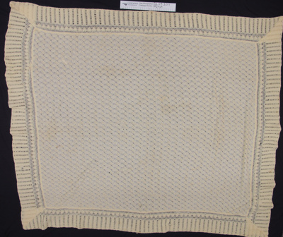 Baby blanket; Unknown; early 20th century; 1992_929