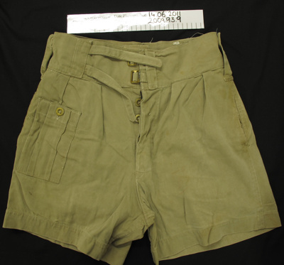 Uniform shorts; Wright Edgware; c.1939-1945; 2009_93_9
