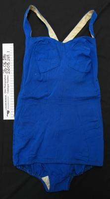 Blue swim suit; Berlei; c.1950s; 2008_269_1