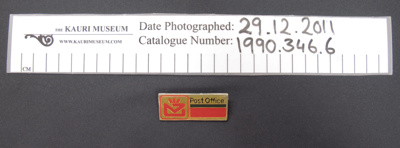 N.Z. Post Office badge mid 20th Century; Unknown; mid 20th Century; 1990_346_6