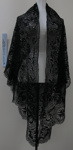 Black Maltese lace shawl; Unknown; Unknown; 1987_19