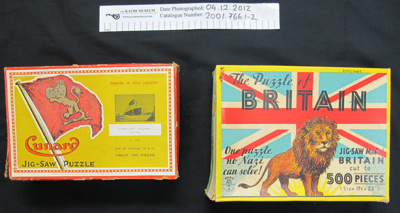 Jigsaw puzzles WW2; Mere; c.1939-1945; 2001_766_1-4