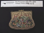 Embroidered purse; Unknown; c.1930's-40's; 1990_1213