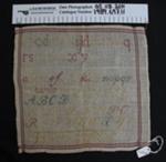 Needlework sampler; Unknown; Unknown; 1989_697_11