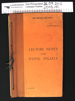 Manual, 'Lecture Notes For Pupil Pilots'; Air Ministry; 1940; 2005_180