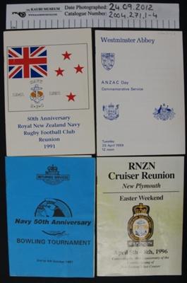 Memorabilia RNZ Navy; 1987-1996; 2004_271_1-11