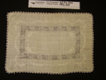 Tray cloth; Unknown; early 1900's; 1992_1010