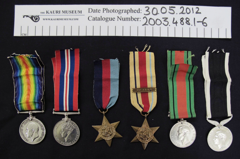 WW1-WW2 medals; 1918-1945; 2003_488_1-6 on eHive