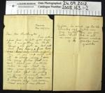 Letter 1916; 1916; 2005_163_1-2