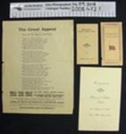 Collection of WW1 ephemera; c.1914-1919; 2008_472_1